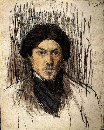 Pablo Picasso. self-portrait, 1899