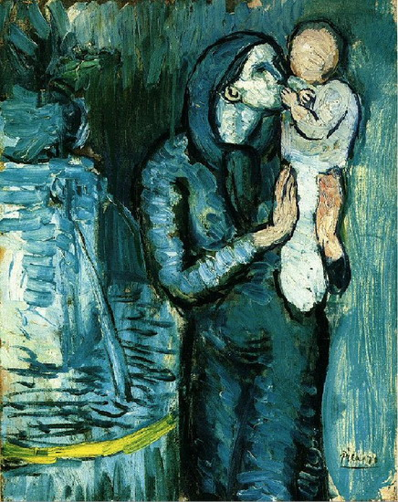 Pablo Picasso. Mother and Child, 1901
