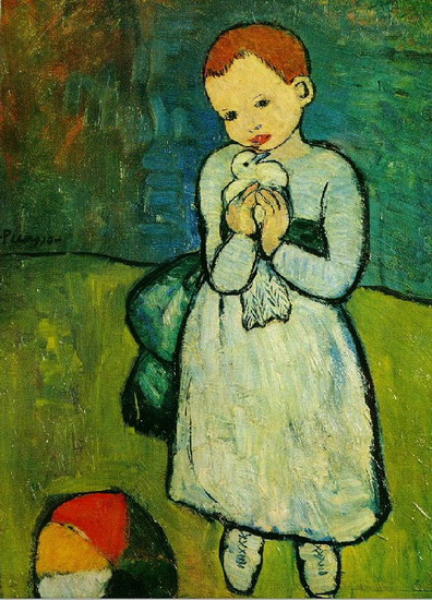 Pablo Picasso. Child with a Dove (the lad pigeon), 1901