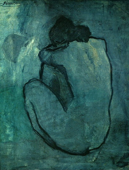 Pablo Picasso. Blue Nude, 1902