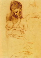 Pablo Picasso. Mother and child hands of study