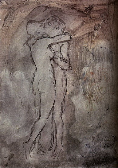 Pablo Picasso. The kiss, 1899
