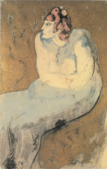 Pablo Picasso. Seated Woman, 1901