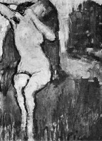 Pablo Picasso. Nude sitting