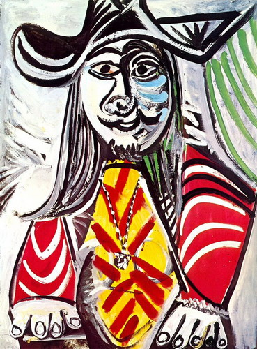 Pablo Picasso. Bust of man medallion III, 1969