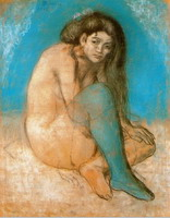 Pablo Picasso. Naked woman sitting