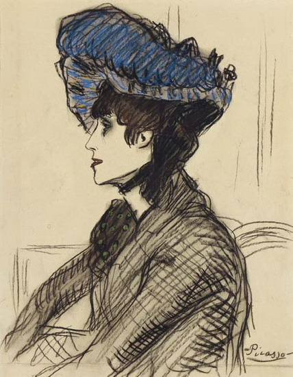 Pablo Picasso. In the lodge (Portrait of Jane Avril), 1901
