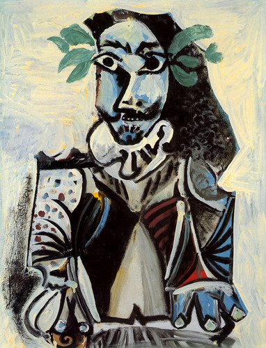 Pablo Picasso. Bust of man laurel, 1969