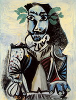 Pablo Picasso. Bust of man laurel