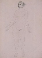 Study of a nude standing