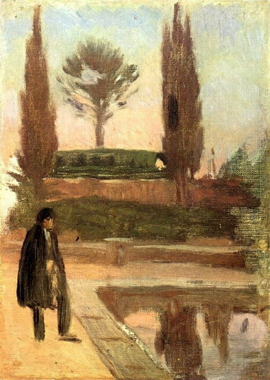 Pablo Picasso. Man in a park, 1897