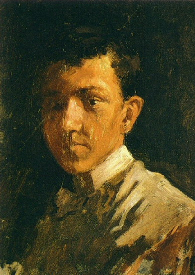 Pablo Picasso. Self-Portrait with short hair, 1896