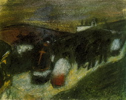Pablo Picasso. rural burial