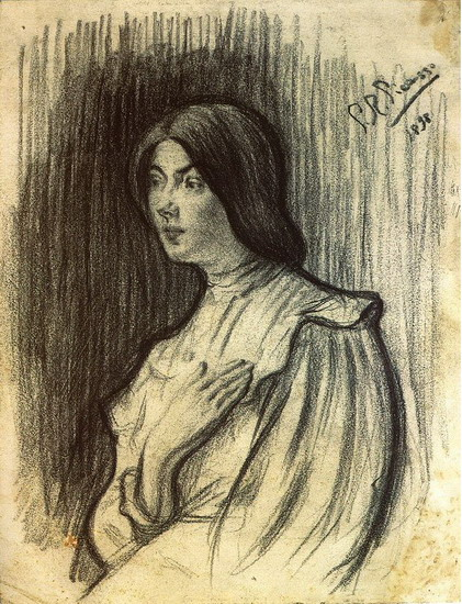 Pablo Picasso. Portrait of Lola, 1898