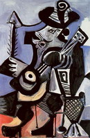 Pablo Picasso. Musician [Musketeer guitar]