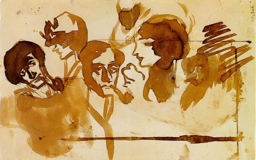 Pablo Picasso. studies and heads, 1899