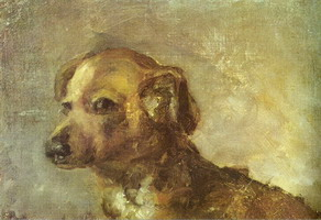 Clipper, dog Picasso