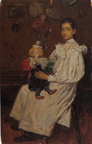 Pablo Picasso. The lad and his doll? E, 1896