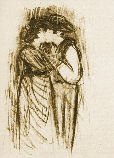 Pablo Picasso. The kiss, 1904