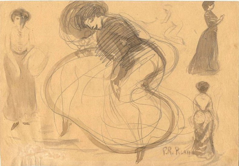 Pablo Picasso. Dancer and women, 1900