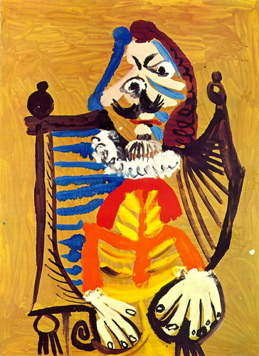 Pablo Picasso. Man in a wheelchair, 1969