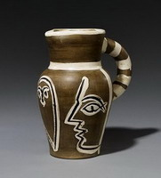 Pablo Picasso. Grey Engraved Pitcher
