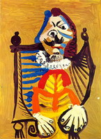 Pablo Picasso. Man in a wheelchair