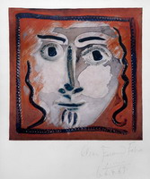 Pablo Picasso. Face of a Gentleman with Wavy Hair