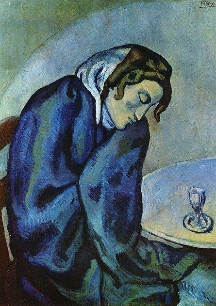 Pablo Picasso. Drunk woman is tired (drunk Woman fatigue), 1902
