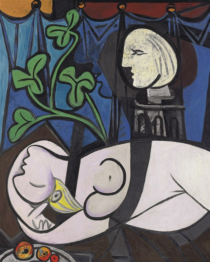 Pablo Picasso. Nude, Green Leaves and Bust, 1932