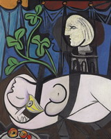 Pablo Picasso. Nude, Green Leaves and Bust