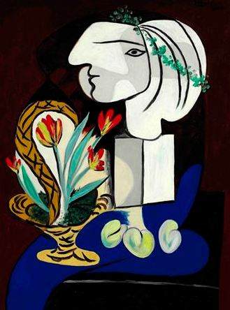 Pablo Picasso. Stilllife with tulips (Nature morte aux tulipes), 1932
