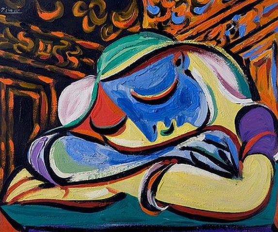 Pablo Picasso. Sleeping girl (Sleeping girl), 1935