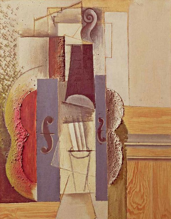Pablo Picasso. Violin Hanging on the Wall, 1912