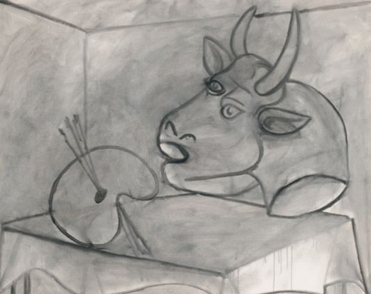 Pablo Picasso. Palette and Bull Head, 1938