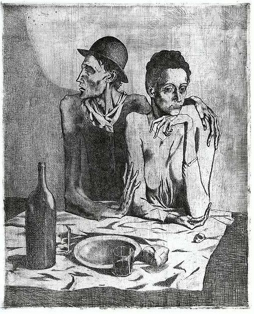 Pablo Picasso. The Frugal Meal, 1904