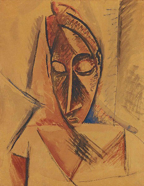 Pablo Picasso. Head (study of nude with drapery), 1907