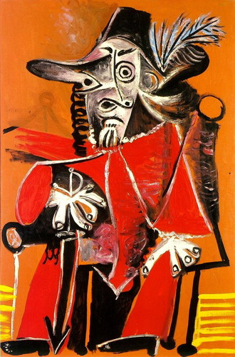 Pablo Picasso. Musketeer sword sitting, 1969