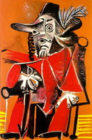 Pablo Picasso. Musketeer sword sitting