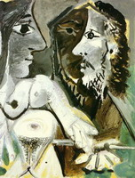 Pablo Picasso. Nude woman and musketeer, 1967