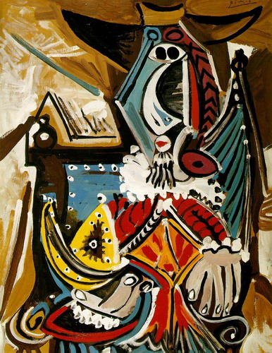 Pablo Picasso. The man in the golden helmet (Rembrandt), 1969