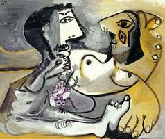 Pablo Picasso. Nude man and woman