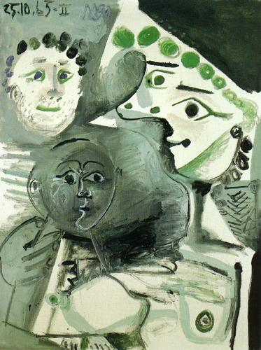 Pablo Picasso Man Mother And Child Ii 1965