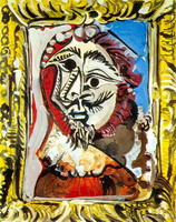 Pablo Picasso. Bust of man frames