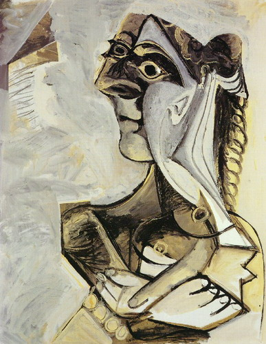 Pablo Picasso. Seated Woman (Jacqueline), 1971