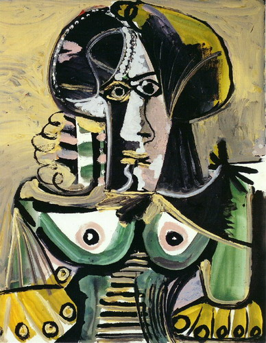 Pablo Picasso. Female bust, 1971