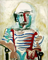 Pablo Picasso. Seated Man (Self Portrait)