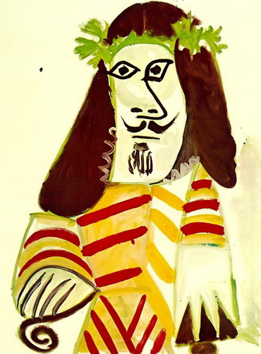 Pablo Picasso. Man with head laurel, 1969