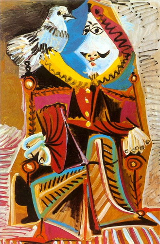 Pablo Picasso. Musketeer with Dove, 1969