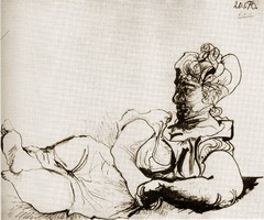 Pablo Picasso. Reclining Woman, 1970